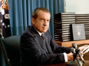 President-Nixon-announces-the-release-of-edited-transcripts-of-the-Watergate-tapes-April-29-1974-494x370
